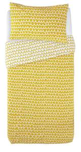 Argos Home Mustard Squiggle Bedding Reversable Set - Single £5.00 / Double £6.00 / King £7.00 @ Argos ( free click and collect )