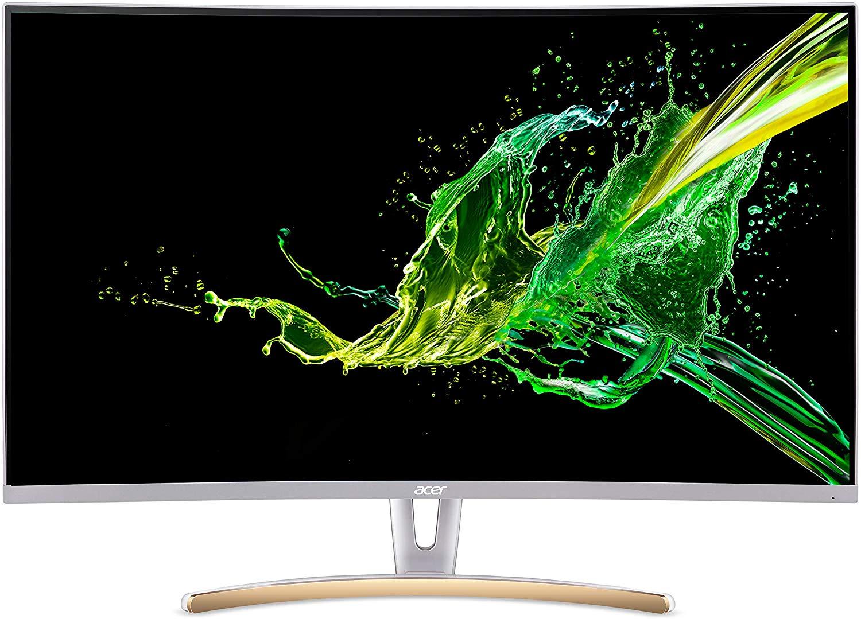 Acer ED323QURwidpx 31.5 inch WQHD 1800R Curved Monitor (VA, 75Hz, 4ms, ZeroFrame, Freesync, DP, HDMI, DVI, White) - £199.98 @ Amazon