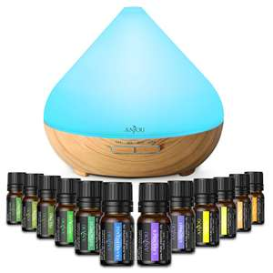 Anjou 7 Colour Led Lights Aromatherapy essential oil diffuser/Humidifier with 12 Essential Oils £22.99 Delivered Sunvalleytek-UK/Amazon.