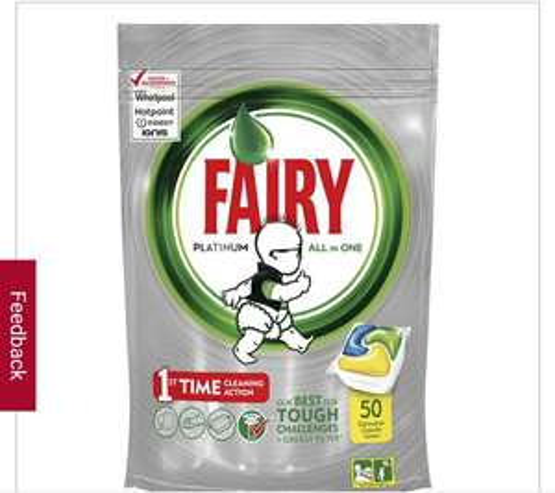 Fairy Platinum Dishwasher Tablets 50s £4 at Wilkos