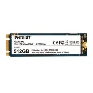 Patriot Memory Scorch 512GB SSD interne NVMe format M.2 2280 - PS512GPM280SSDR - £36.38 @ Amazon