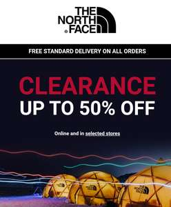 Up to 50% off North Face Sale Men's, Womens Kids clothing, footwear & accessories Free delivery @ The North Face