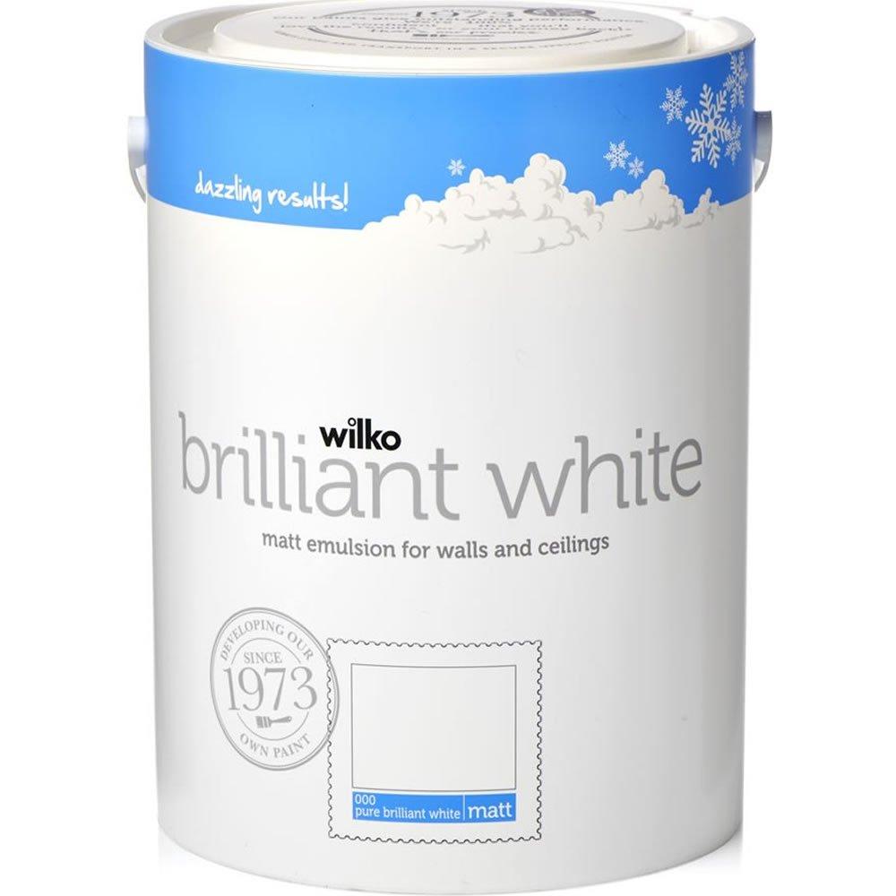 Wilko Pure Brilliant White Matt Emulsion Paint 5L £6 bought (Bury Lancs ) + £2 Order & Collect