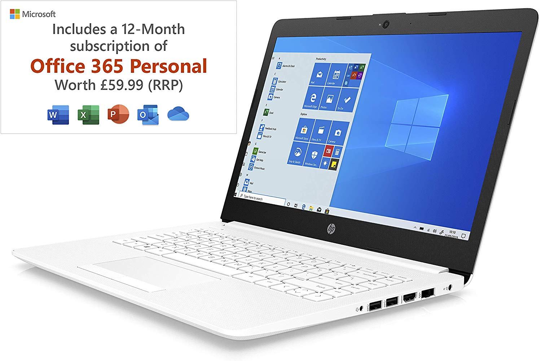 HP Stream 14-cm0042na 14 Inch Laptop, White AMD A4-9125 Dual Core, 4 GB RAM, 64 GB eMMC £199.99 @ Amazon