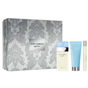 D&G Light Blue EDT 100ml, Body Cream 100ml & Travel Spray 10ml Gift Set £42.99 with next day delivery @ Beauty Base