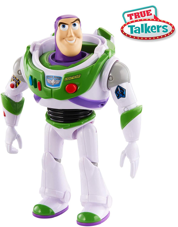 Disney Pixar Toy Story 4 True Talkers Buzz Lightyear Figure now £11.25 (Prime) + £4.49 (non Prime) at Amazon