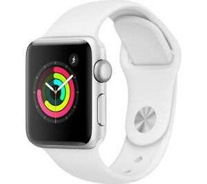 Brand New APPLE Watch Series 3 - Silver & White Sports Band, or Space Grey Black sports band38 mm - ebay Currys - £189