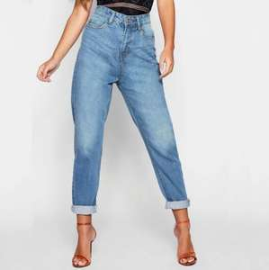 Petite High Rise Mom Jeans now £6.99 including next day delivery @ Boohoo