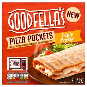 Goodfella's 2 Pizza Pockets Triple Cheese / Pepperoni 250g £2 or 2 for £3 at Iceland