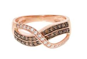 Adara - 10ct Rose Gold 0.50ct Diamond Ring (currently £1,395 via 'ingenious-jewellery.co.uk') - Sizes M & N £360 - Free Delivery via TK Maxx