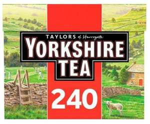 2 x 120 Yorkshire Tea for £4 @ Tesco (instore/maybe online)