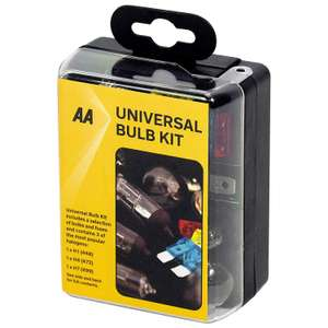 AA Compact Universal Bulb Kit, inc H1, H4 and H7 bulbs - Black £2.50 at Amazon (+£4.49 non prime)