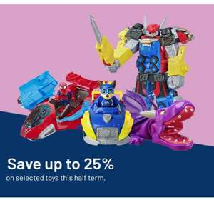 Argos 25% off selected toys