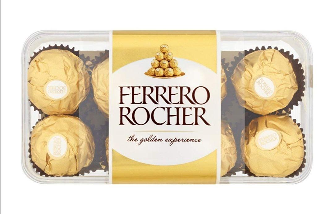 Ferrero Rocher Chocolate Gift Set, Hazelnut & Milk Chocolate Pralines, 5 x 16 Pieces £17.50 (Prime) / £21.99 (nonPrime) / £12.24 s&s Amazon