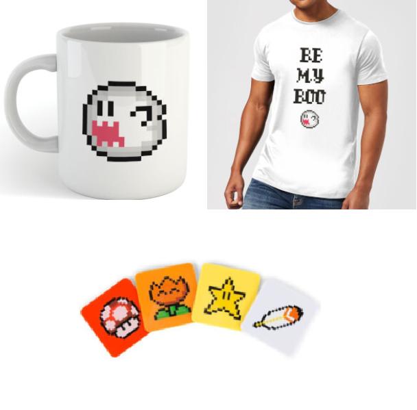 Nintendo: Super Mario - Be My Boo T-Shirt, Mug and Coasters Bundle £12.99 Delivered at Zavvi