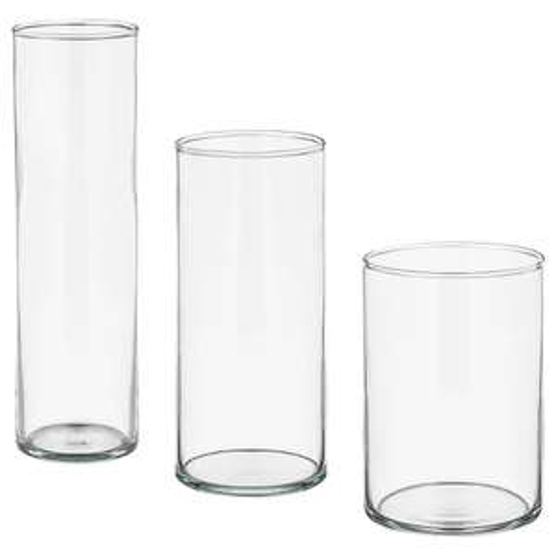 Cylinder Vase, set of 3, now £10 @ Ikea instore