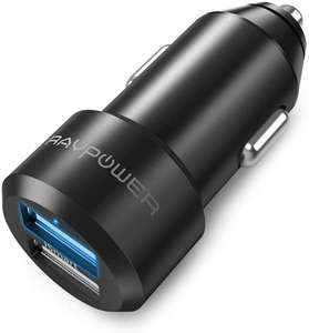 RAVPower 2 Port USB Car Charger - 12V / 24W / 4.8A - £3.49 Prime / £7.48 Non Prime Using Code @ Amazon / Sunvalleytek-UK