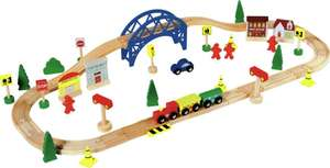 Chad Valley Wooden Train Set - 60 Piece £8 Argos