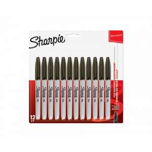 Sharpie Fine Permanent Markers (In Black) Pack of 12, £7.49 with FREE click and collect from Ryman
