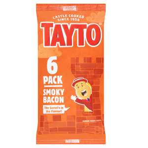 6 Pack of Tayto Smoky Bacon Crisps 99p @ Home Bargains