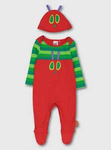 HUNGRY CATTERPILLER SLEEPSUIT AND HAT - £6.75 @ Argos