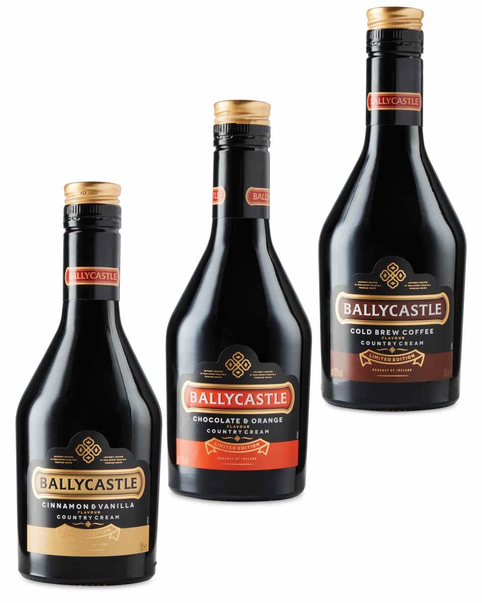 Ballycastle Irish cream liqueur selection 3x 350ml bottle £4.49 in Aldi