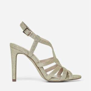 Dorothy Perkins - Showcase Gold Byze Heeled Sandals Various Sizes Down to £5.60 @ Debenhams