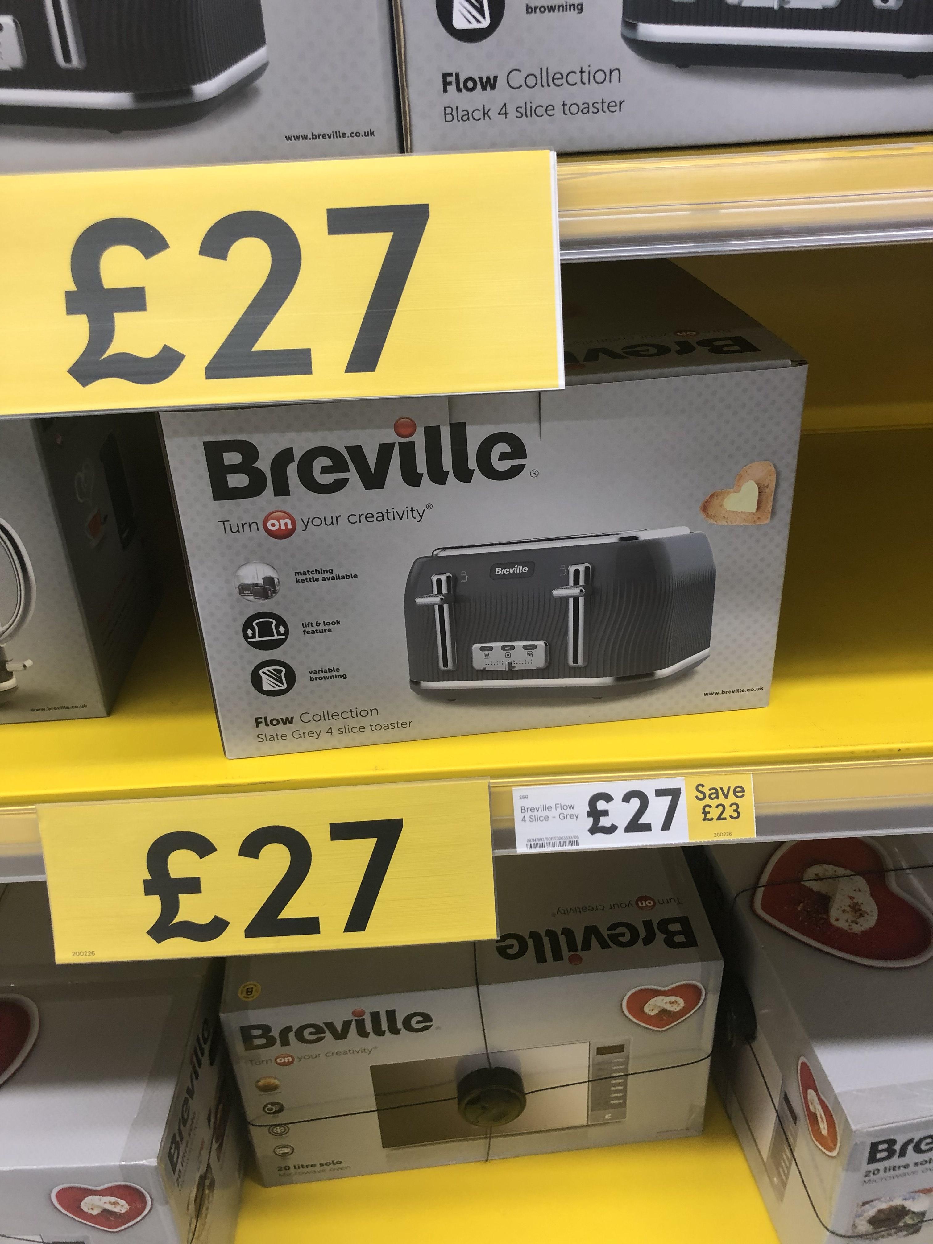 Breville 4 slice Toaster £27 instore VTT892 @ Tesco (Redcar)