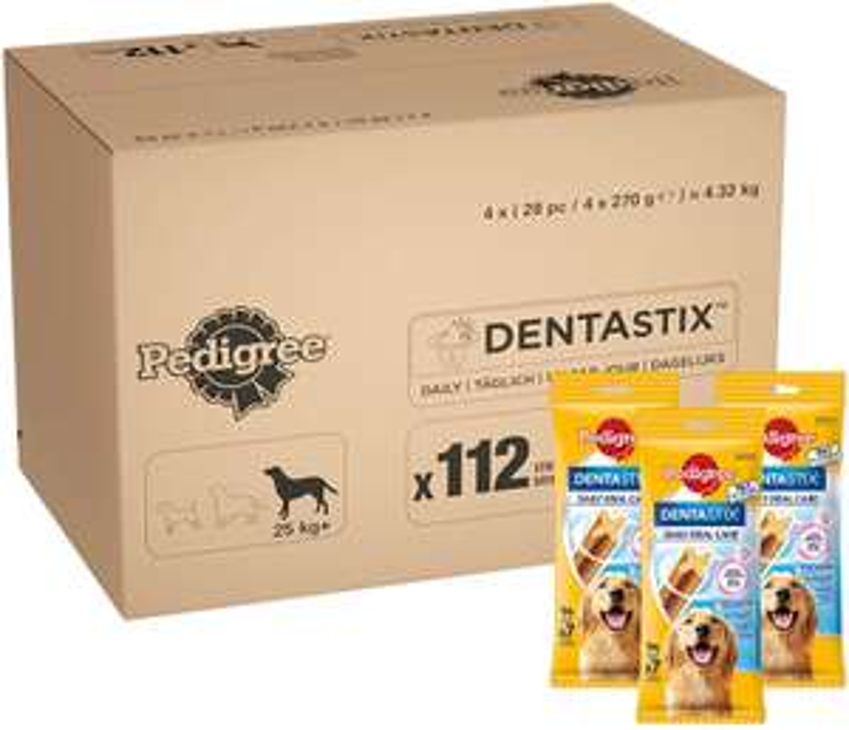 Pedigree Dentastix - Daily Dental Care Chews, Large Dog Treats from 25kg+, 1 box £16.67 at Amazon Prime / £21.16 Non Prime
