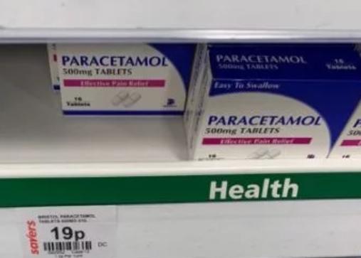 Bristol Paracetamol Tablets 16 x 500mg 19p @ Savers Ilford - East London