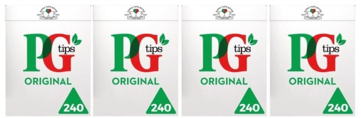 PG Tips Tea Bags - 4 x 240 packs (960 Teabags) - £10.89 @ Costco