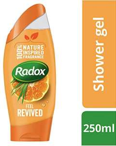 6 x Radox Feel Revived (Inspired by Nature - Mood Enhancing) Shower Gel 250 ml £6 /£4.80 via subscribe and save @ Amazon (+£4.49 Non-prime)