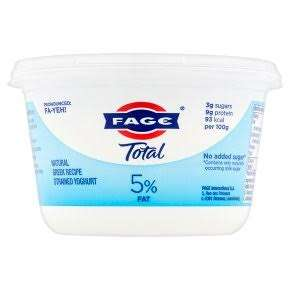 Total Greek yoghurt full or 0% fat 500g £2 @ Tesco