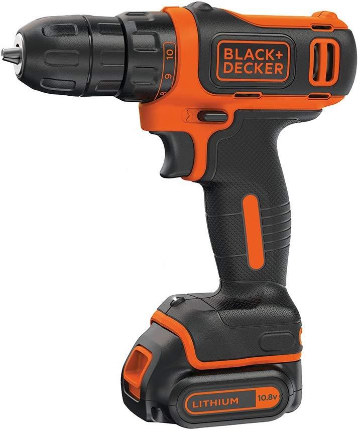 Black and Decker 10.8 V Lithium-Ion Compact Cordless Drill Driver for £19.99 (Prime) / £24.48 (Non Prime) @ Amazon