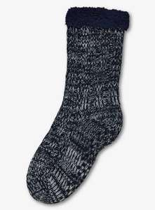 Children's Navy Blue Knitted Cosy Slipper Socks - 9-12 Now £1.69 / 12.5 - 3.5 Now £1.87 + Free Click & Collect @ Argos