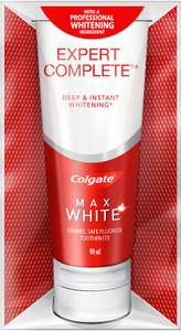 Colgate expert complete toothpaste 90ml 50p instore at Sainsbury's, Nottinghamshire