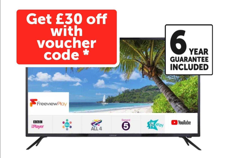 Linsar 65 inch 4K ultra HD smart Linsar TV. 6 years guarantee -£419 @ Richer Sounds
