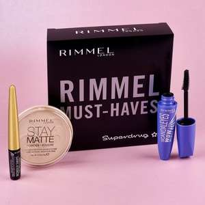 Free Rimmel Must Haves Gift Set when you spend £15 on Rimmel + stacks with 3 for 2 on Rimmel + Free Delivery @ Superdrug (more in post)