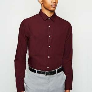 Long Sleeve Button Up Poplin Shirts now £4.00 / £5.99 click & collect @ New Look + More Mens Shirts from £4.00