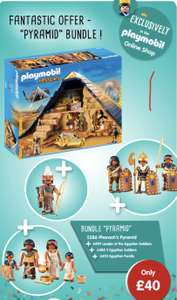 Pyramid Bundle £40 includes Free delivery at Playmobil online Shop