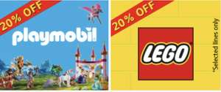 20% Off Lego & Playmobil at Hamleys