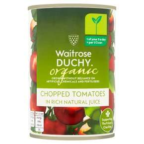 Duchy Organic Chopped Tomatoes In Natural Juice 400g 66p at Waitrose & Partners