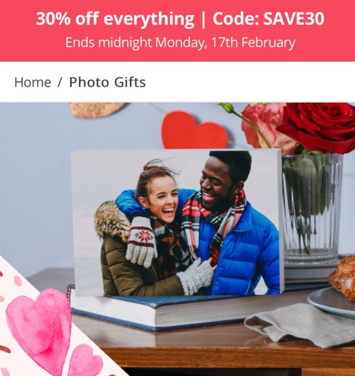 30% Off Everything at Photobox