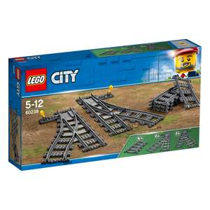 60238 Lego City Train Switch Tracks or Track £12.80 as part of Hamleys 20% off Lego +£3.99 Delivery or free over £45