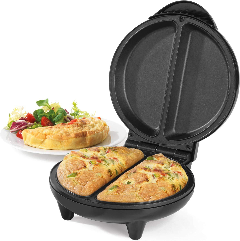 Salter EK2716 Non-Stick Dual Omelette Maker, 750 W, Black £12 (Prime) 16.49 (Non-Prime) @ Amazon