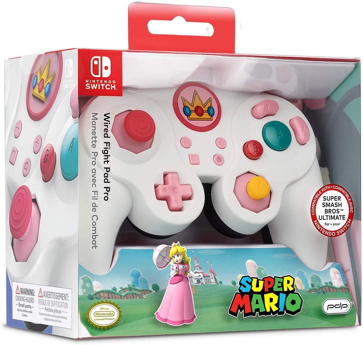 PDP Smash Fight Pad Pro Wired Controller - Peach (Nintendo Switch) £18.71 (Prime) £23.30 (Non Prime) @ Amazon