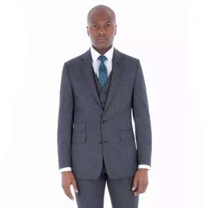 Hammond & Co. by Patrick Grant-Grey Jaspe Wool Blend 2 Button Front Tailored Fit Sty James Suit Jacket £25 @ Debenhams