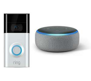 RING Video Doorbell 2 & Amazon Echo Dot Bundle (2018) - Heather Grey or Charcoal - £119 @ Currys PC World