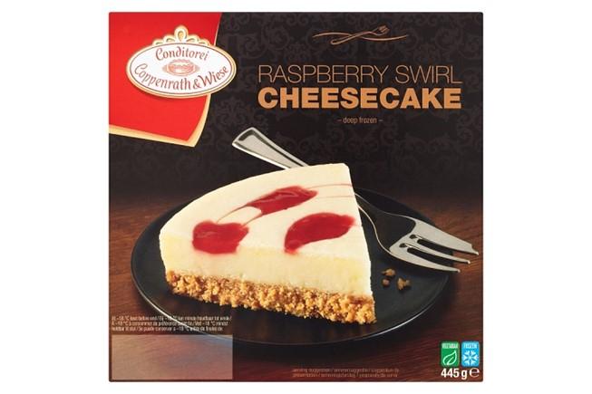 Raspberry Swirl Cheesecake 79p at FarmFoods Renfrew
