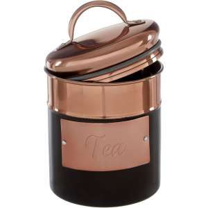 Interiors by Premier Prescott - Stainless Steel Tea Canister - Rose Gold - £2.12 with code - Free C&C at Robert Dyas